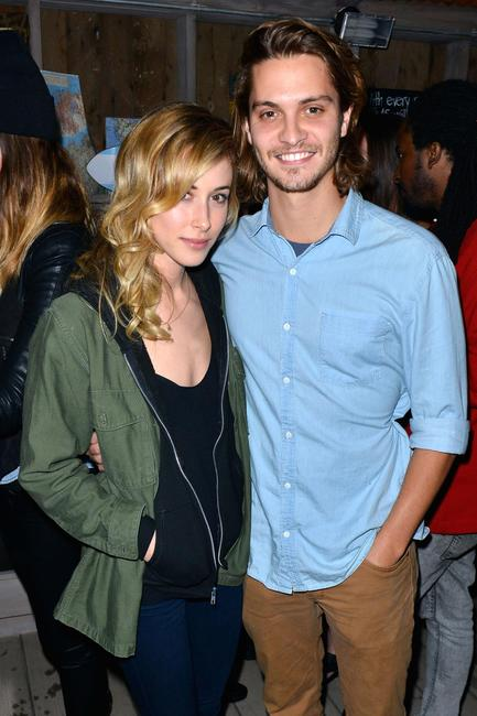 Gillian Zinser and Luke Grimes at the Grand Opening of TOMS official flagship store in California.