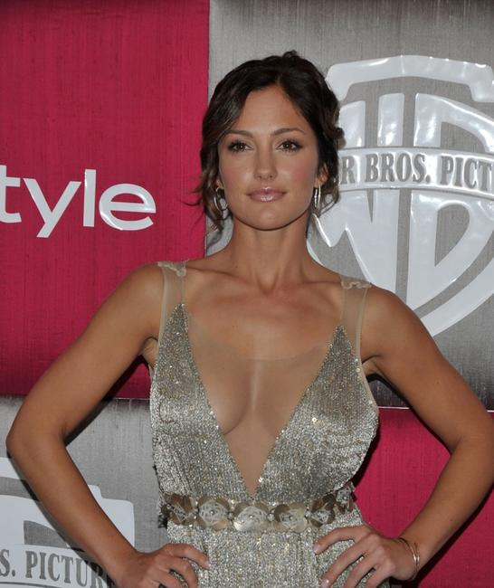 Minka Kelly at the after party of InStyle/Warner Bros. during the 66th Annual Golden Globe Awards.