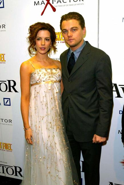 Kate Beckinsale and Leonardo DiCaprio at the UK premiere of