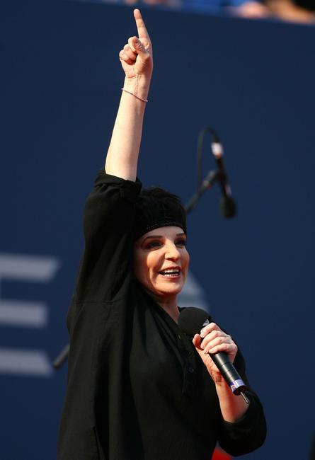 Liza Minnelli at the Billie Jean King National Tennis Center performs at 2007 U.S. Open Men's Final.