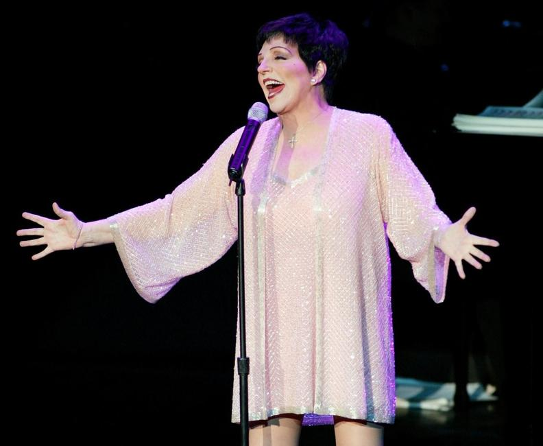Liza Minnelli at the first night of her three-night run at the Luxor Hotel & Casino.
