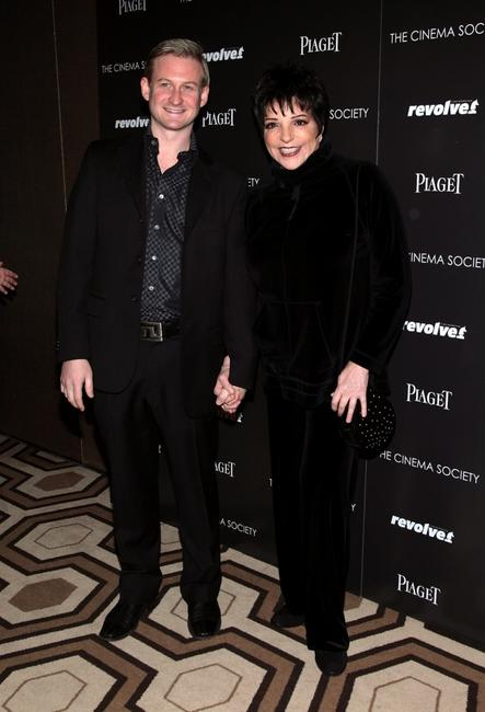 Liza Minnelli and Johnny Rogers at the screening of
