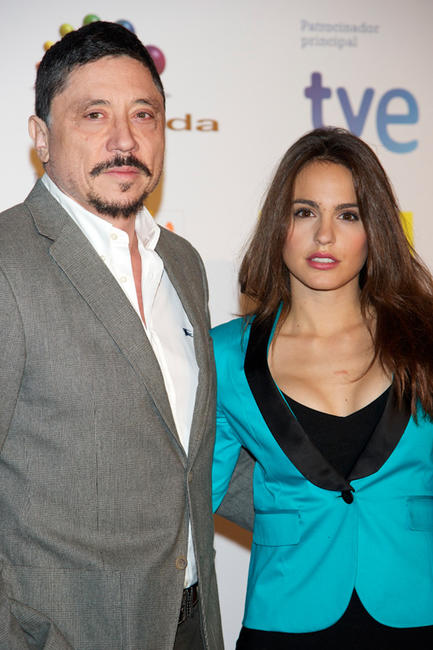 Carlos Bardem and Veronica Echegui at the Jose Maria Forque 2012 Awards in Spain.