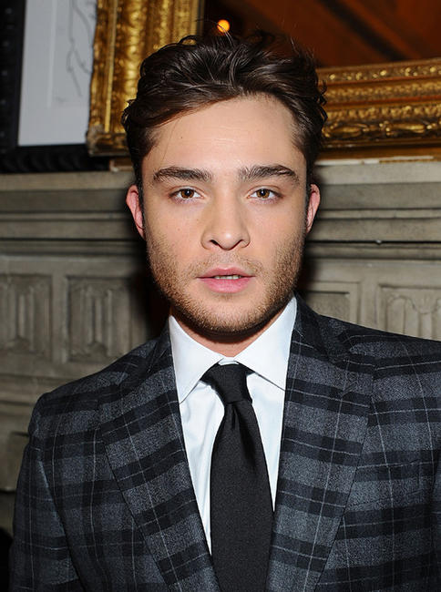 Ed Westwick at the Tommy Hilfiger Fall 2011 Men's Collection in New York.