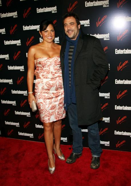 Sara Ramirez and Jeffrey Dean Morgan at the Entertainment Weekly and Vavoom annual upfront party.