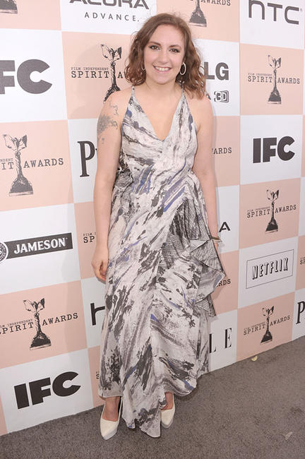 Lena Dunham at the 2011 Film Independent Spirit Awards in California.