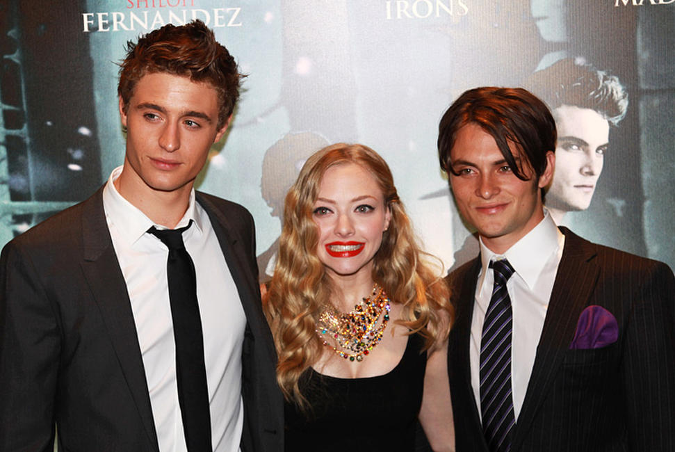 Max Irons, Amanda Seyfried and Shiloh Fernandez at the London premiere of