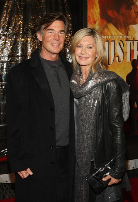 John Easterling and Olivia Newton-John at the premiere of
