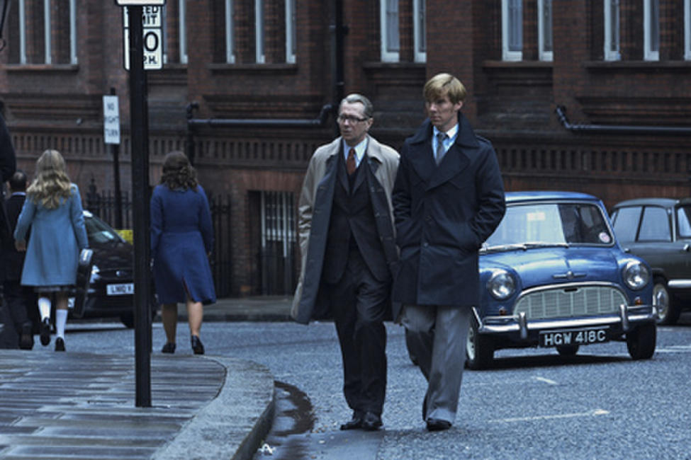 Gary Oldman as George Smiley and Benedict Cumberbatch as Peter Guillam in
