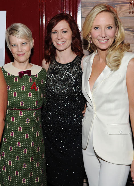 Kellie Overbey, Carrie Preston and Anne Heche at the New York premiere of
