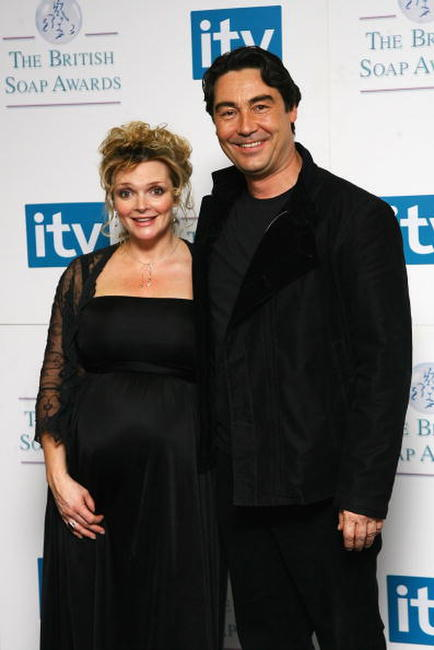 Sharon Small and Nathaniel Parker at the British Soap Awards 2008.