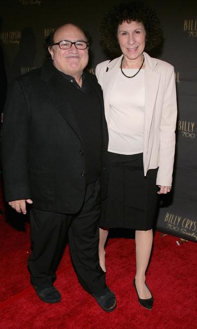 Danny Devito and Rhea Perlman at the opening night of Billy Crystals