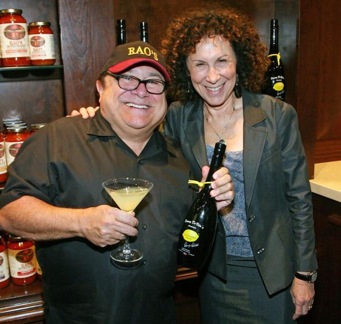Danny DeVito and Rhea Perlman at the promotion of Danny DeVito's Premium Limoncello liqueur.
