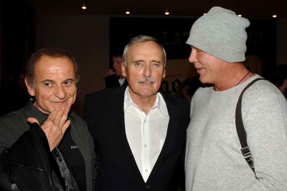 Joe Pesci, Dennis Hopper and Mickey Rourke at the Los Angeles private opening of