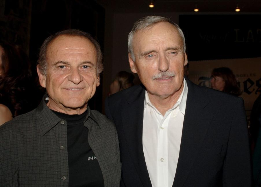 Joe Pesci and Dennis Hopper at the Los Angeles private opening of