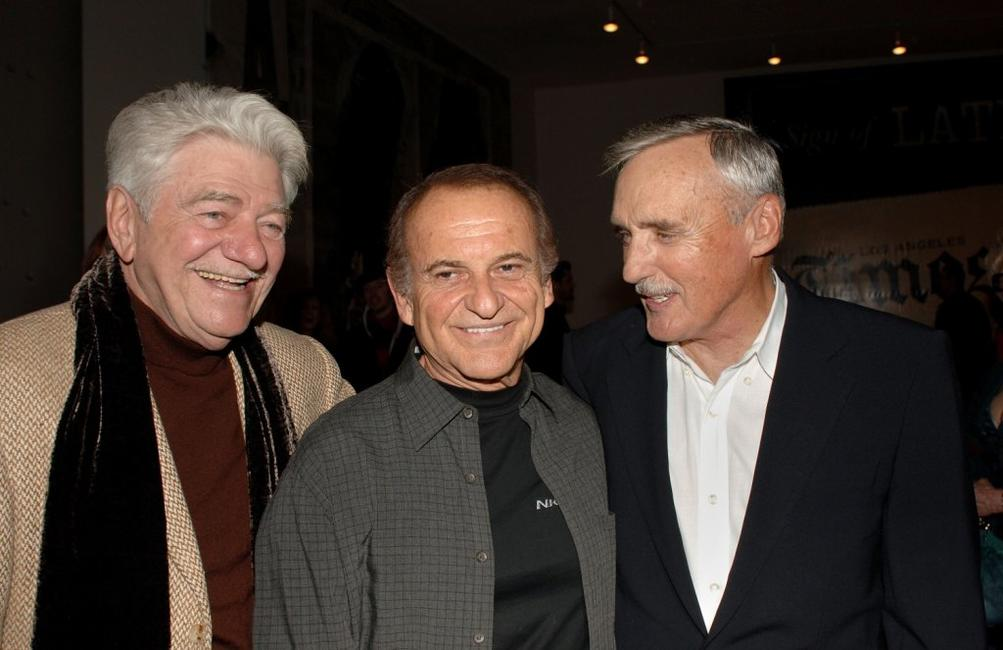 Joe Pesci, Seymour Cassell and Dennis Hopper at the Los Angeles private opening of