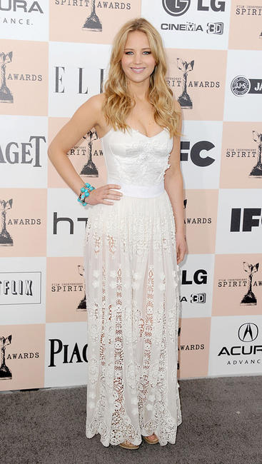 Jennifer Lawrence at the 2011 Film Independent Spirit Awards in California.