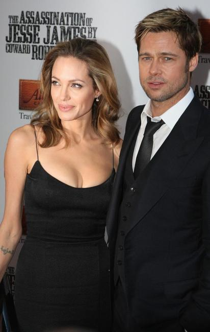 Angelina Jolie and Brad Pitt at the premiere of