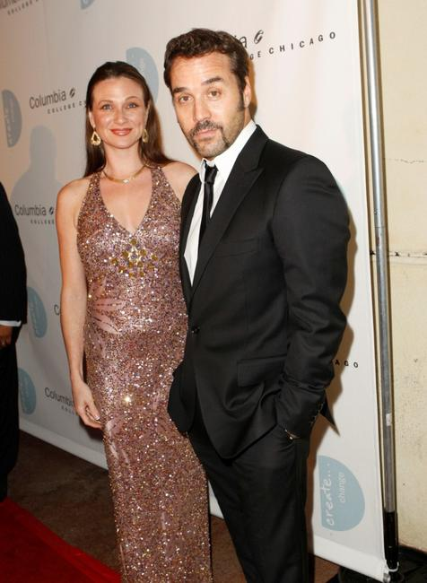 Cindy Marinangel and Jeremy Piven at the 5th annual Columbia College Chicago Impact Awards 2007.