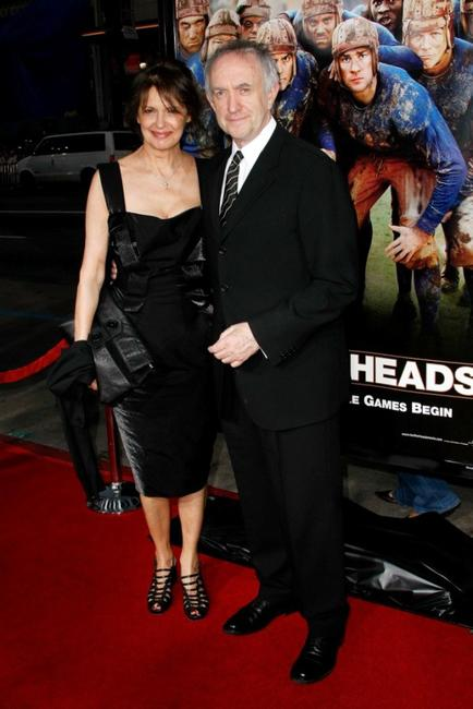 Kate Fahy and Jonathan Pryce at the premiere of