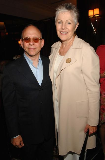 Lynn Redgrave and Bob Balaban at a lunch of