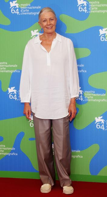Vanessa Redgrave at the 64th Annual Venice Film Festival.