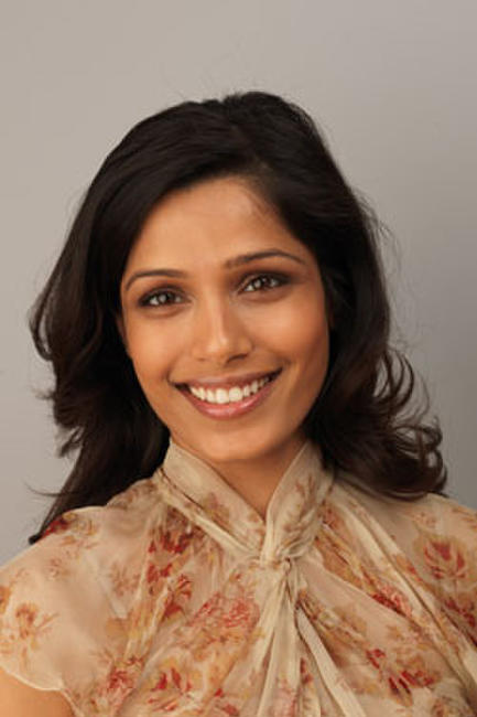 Frieda Pinto from Miral poses for a portrait during The 54th BFI London Film Festival