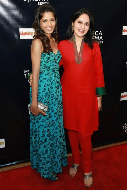 Freida Pinto and Producer Loveleen Tandan at the 2008 Tribeca cinema series.