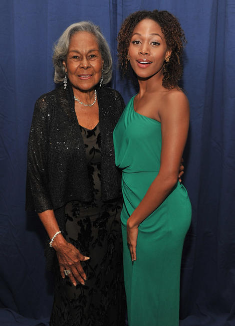 Rachel Robinson and Nicole Beharie at the 2012 Jackie Robinson Foundation Awards Gala in New York.