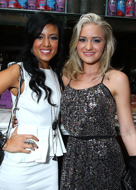 Heather Hemmens and AJ Michalka at the Hollywood Foreign Press Association & InStyle Introduce Miss Golden Globe 2011 in California.