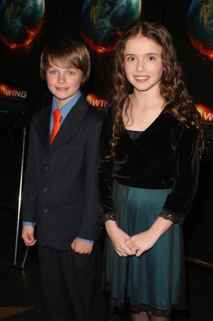 Chandler Canterbury and Lara Robinson at the premiere of
