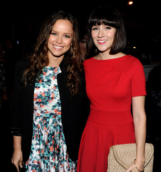 Allison Miller and Shannon Woodward at the FOX All-Star party.