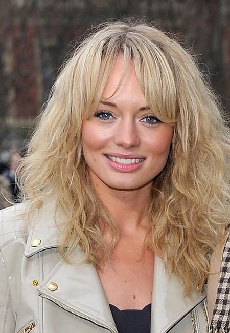 Laura Haddock at the Burberry Prorsum Show during the London Fashion Week Autumn/Winter 2011.