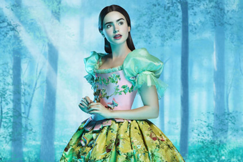 Lily Collins as Snow White in
