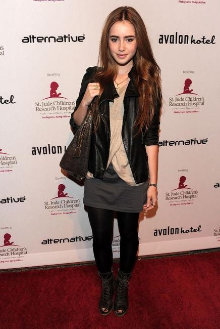 Lily Collins at the benefit for St. Jude Children's Hospital hosted by Shenae Grimes.
