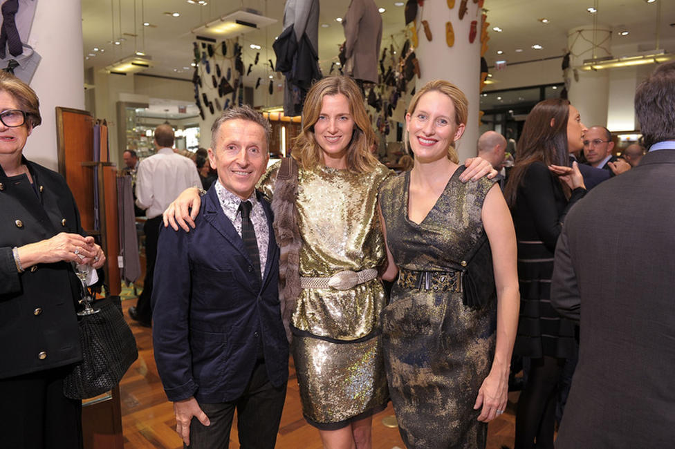 Simon Doonan, Amanda Cutter Brooks and Celerie Kemble at the Barneys Celebrates Diego Della Valle's Brand Visionary Award.