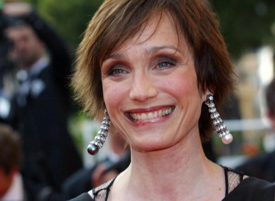 "Kristin Scott Thomas at the screening of ""Ararat"" in Cannes, France."