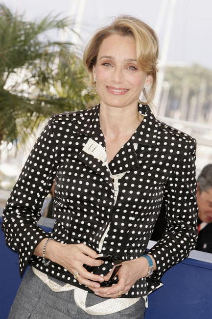"Kristin Scott Thomas at a photocall for the film ""Chromophobia"" in Cannes, France."