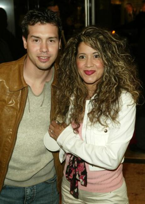 Jon Seda and wife at the opening of Ermenegildo Zegna Flagship store.