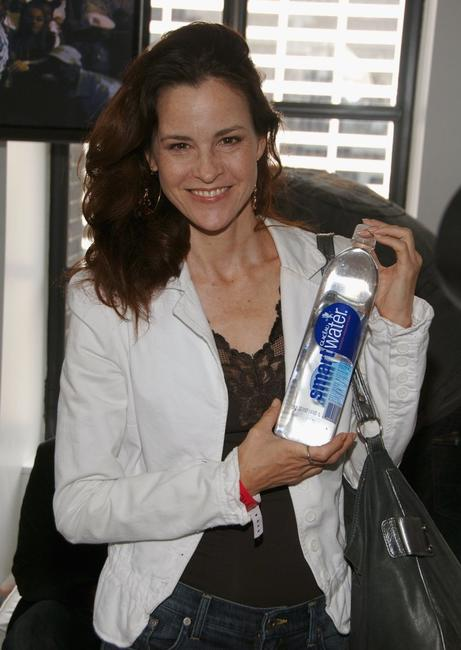 Ally Sheedy at the Smart Water booth at the VMA Style Villa at the Bryant Park Hotel.