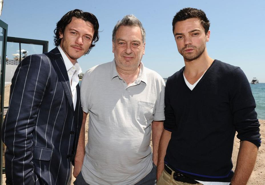 Luke Evans, director Stephen Frears and Dominic Cooper at the 63rd Annual Cannes Film Festival.