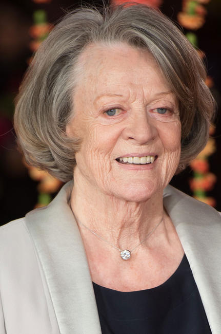 Maggie Smith at the London premiere for