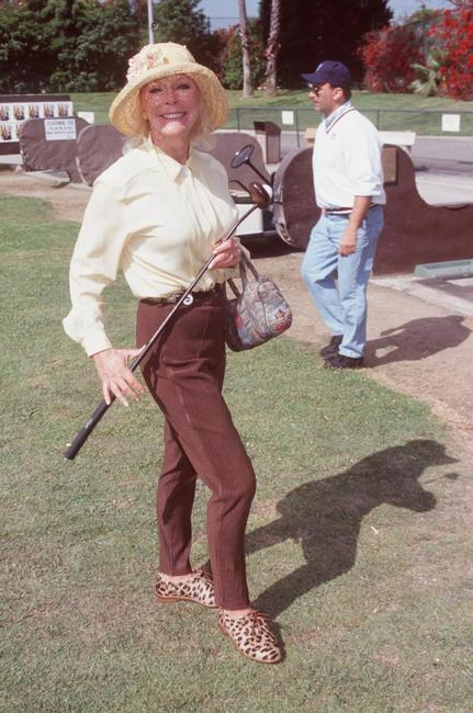 Elke Sommer at the LAPD Celebrity Golf Tournament.