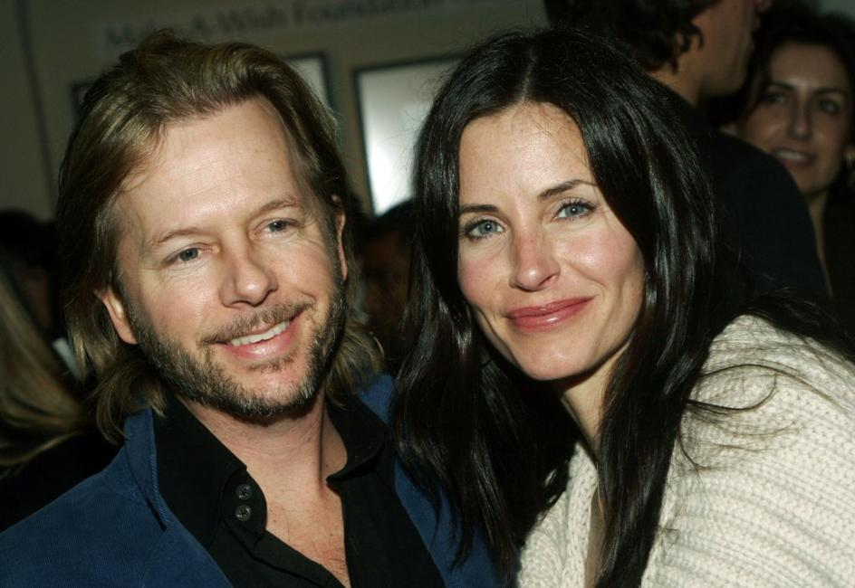 David Spade and Courtney Cox at the gallery exhibition of photographer Slim Aarons' work curated by Kate Spade.