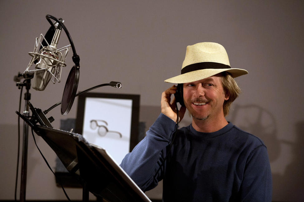 David Spade on the set of