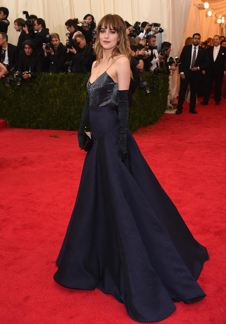 Dakota Johnson at the 'Charles James: Beyond Fashion' Costume Institute Gala in New York City.