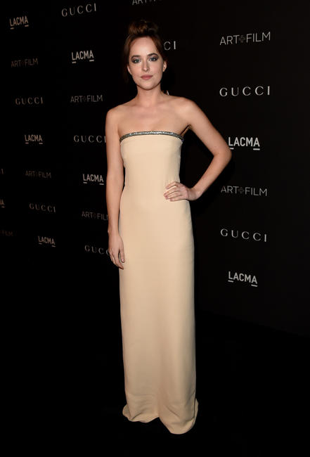 Dakota Johnson at the 2014 LACMA Art + Film Gala in California.