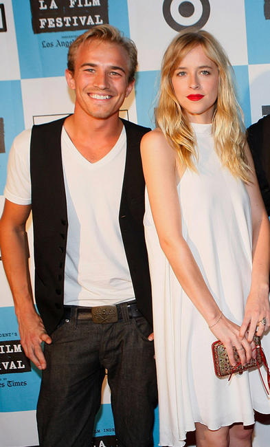 Jesse Johnson and Dakota Johnson at the 2008 Los Angeles Film Festival in California.