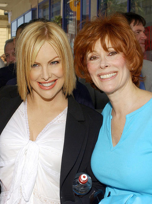 Catie and Jill St. John at the ceremony honoring actor Robert Wagner with a star on the Hollywood Walk of Fame in California.