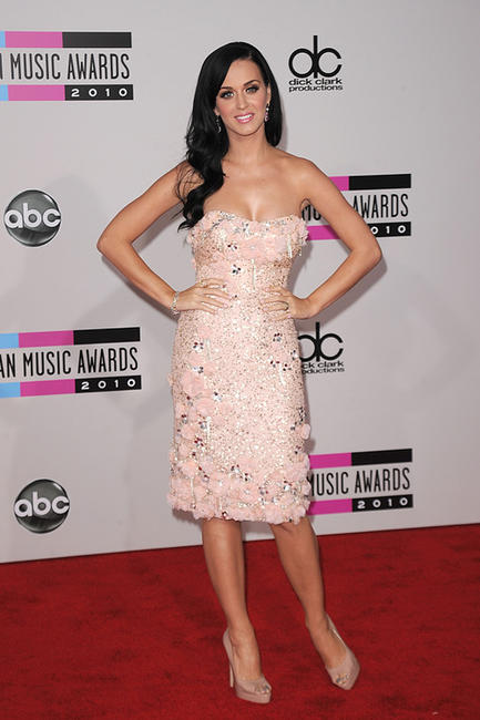 Katy Perry at the 2010 American Music Awards in California.